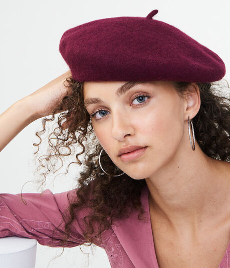 Solid Wool Beret