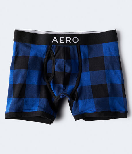 Buffalo Plaid Knit Boxer Briefs