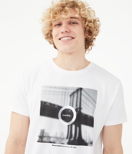 Loading... Manhattan Bridge Graphic Tee