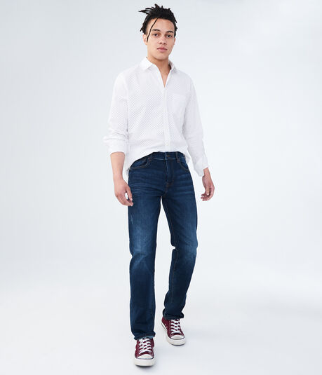 Straight Dark Wash Stretch Jean