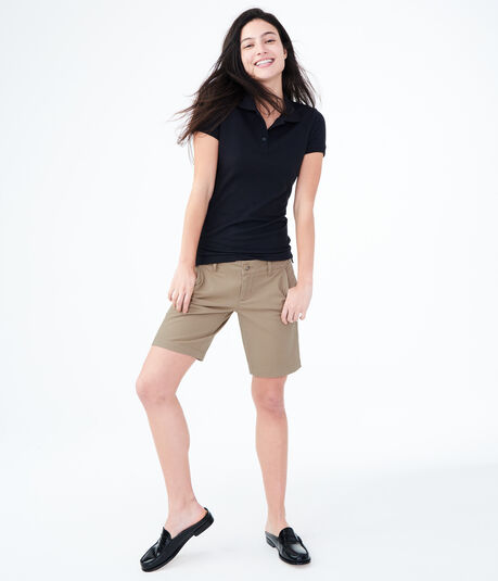 Curvy Uniform Bermuda Shorts