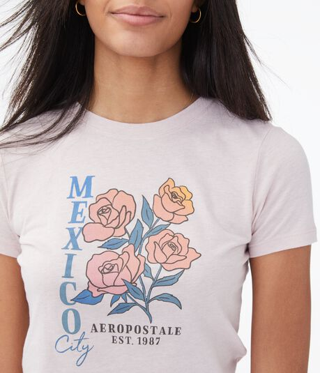 Mexico City Roses Graphic Tee