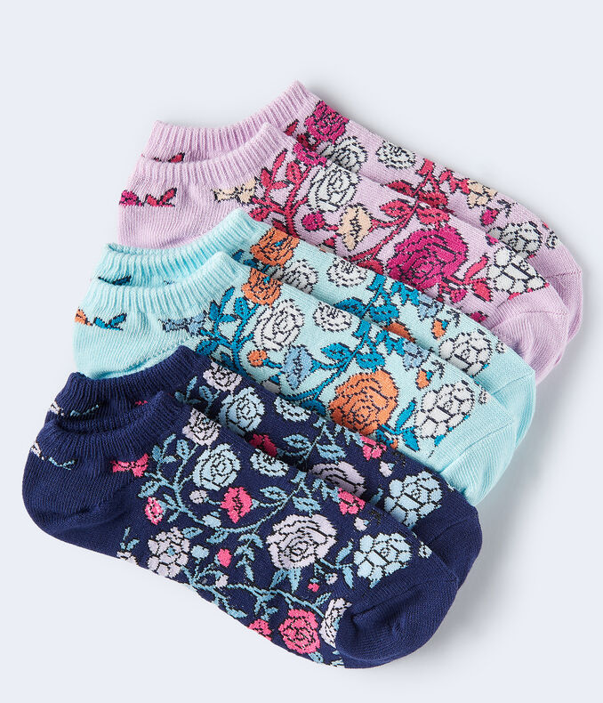 Roses Ankle Sock 3-Pack