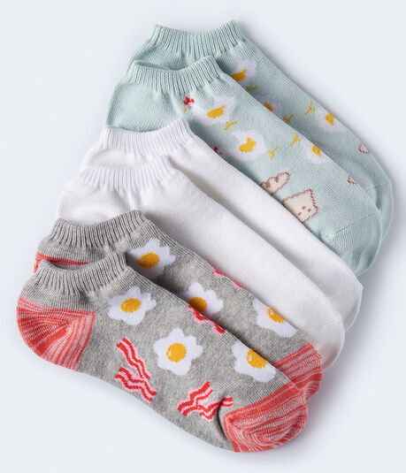 Breakfast Ankle Sock 3-Pack