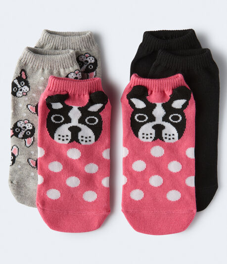 Frenchie Ankle Sock 3-Pack