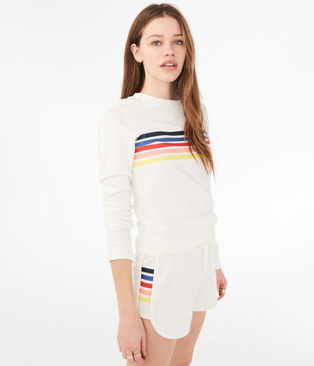 Chest Stripe Crew Sweatshirt