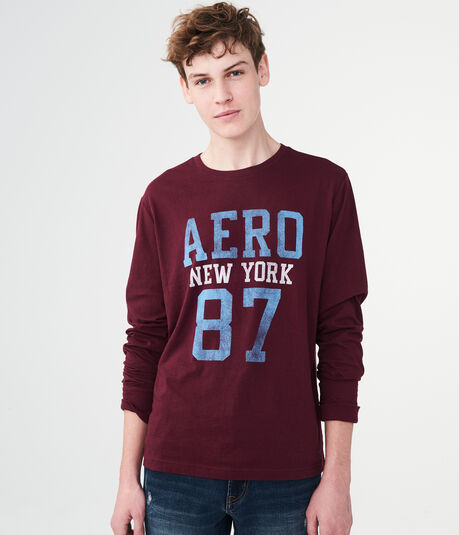 Long Sleeve Aero New York 87 Graphic Tee