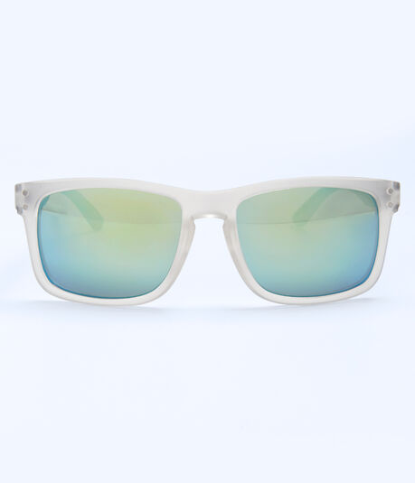 Mirrored Lens D-Frame Sunglasses