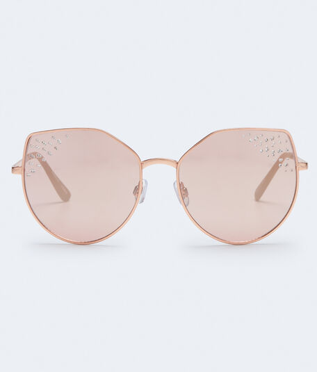 Geometric Sparkly-Tip Sunglasses***