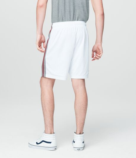 Prince & Fox Side Stripe Mesh Athletic Shorts