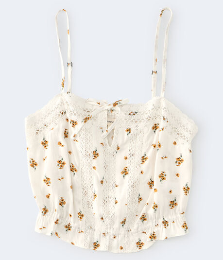 Floral Crocheted Bubble Top