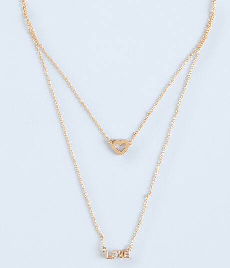 Love Layered Short-Strand Necklace