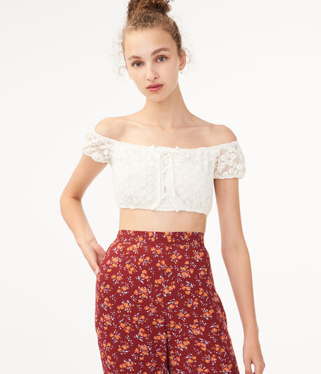 Daisy Lace Crop Top