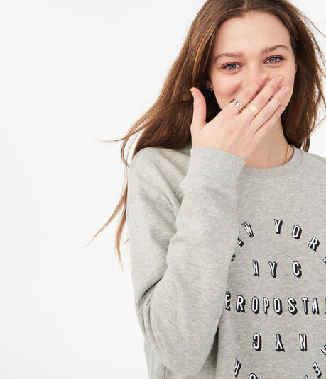 New York Aeropostale Circle Crew Sweatshirt