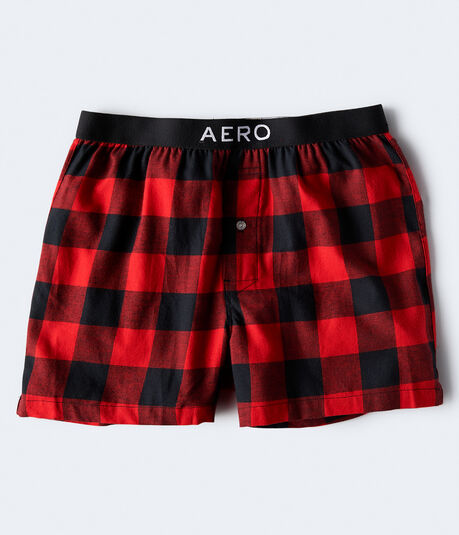 Buffalo Plaid Flannel Woven Boxers