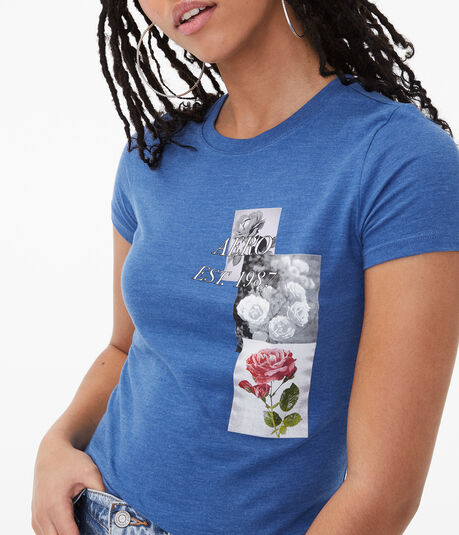 Aero Floral Collage Graphic Tee