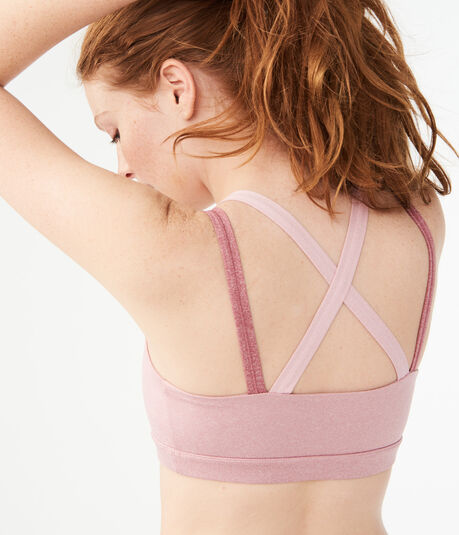 LLD Colorblocked Strap Light-Support Sports Bra