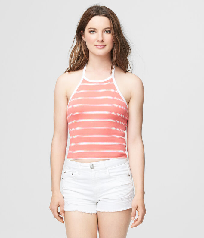 5b894221ec Images. Clearance. Striped Halter Crop Top