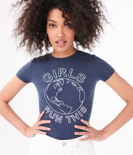Girls Run This World Graphic Tee