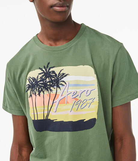 Aero 1987 Palm Tree Graphic Tee