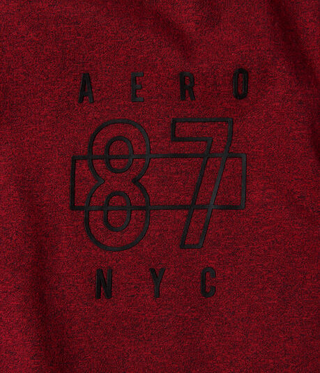 Aero 87 NYC Logo Marled Stretch Graphic Tee