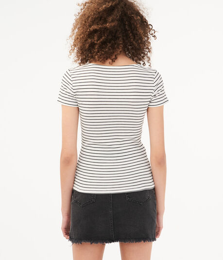 Seriously Soft Striped Zip-Up Tee