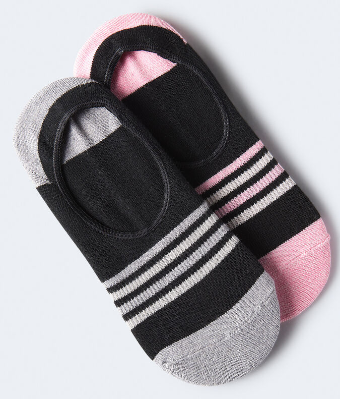 Striped Active No-Show Sock 2-Pack***