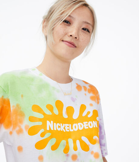 Nickelodeon Tie-Dye Cropped Graphic Tee***