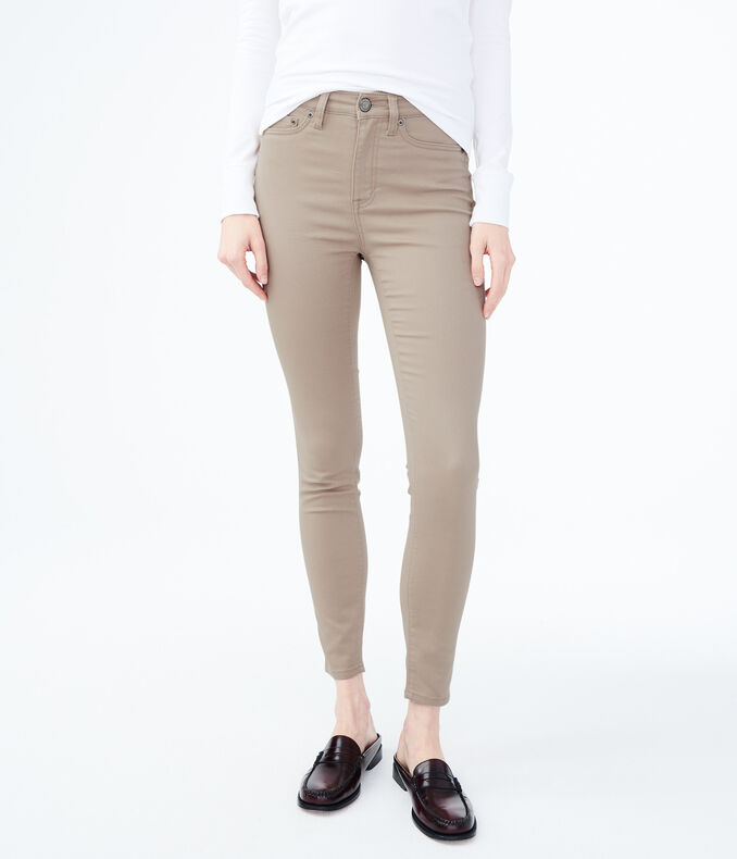 Seriously Stretchy High-Waisted Solid Uniform Jegging***