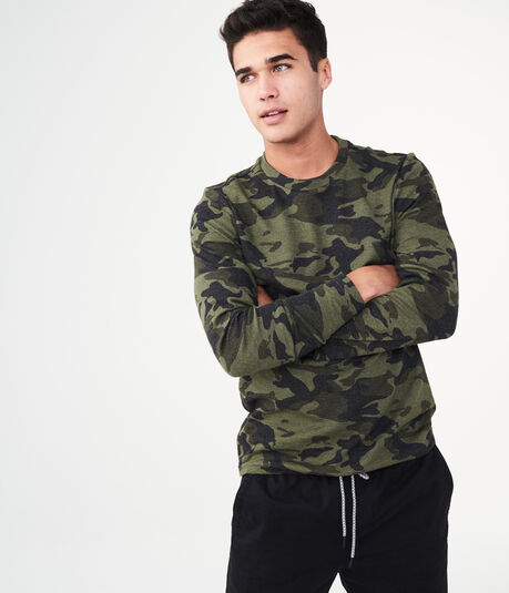 Long Sleeve Camo Thermal Crew Tee