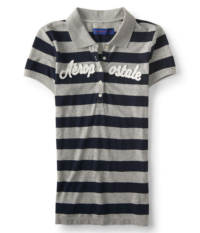 Aéropostale Striped Jersey Polo