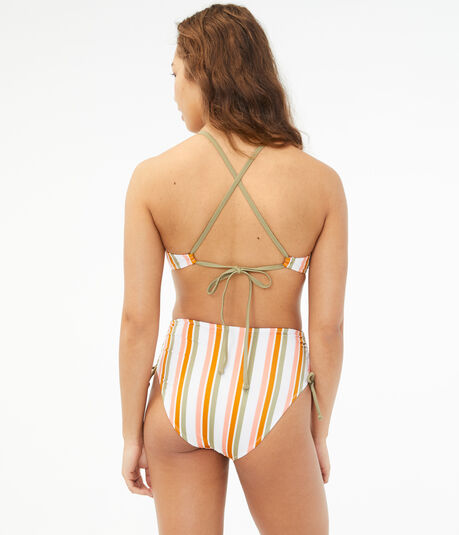Striped Strappy One-Piece Swimsuit
