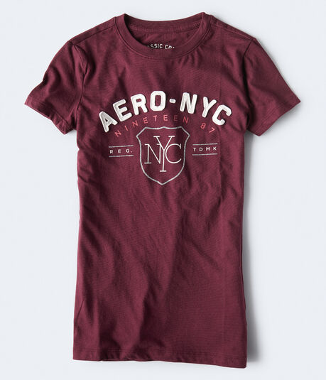 Aero NYC Glitter Graphic Tee