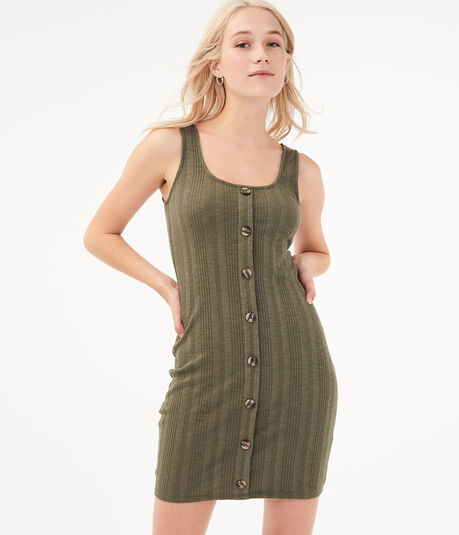Seriously Soft Button-Front Bodycon Dress