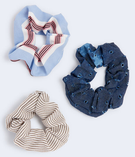 Striped Scrunchie 3-Pack