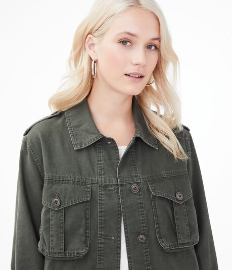 Frayed Military Jacket