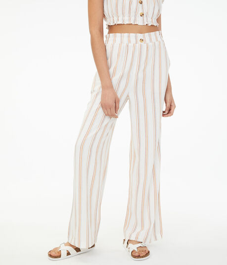 High-Rise Striped Wide-Leg Pants