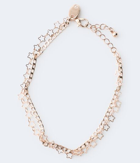 Double-Strand Star Anklet
