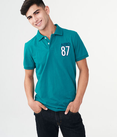 Aero 87 Graphic Jersey Polo