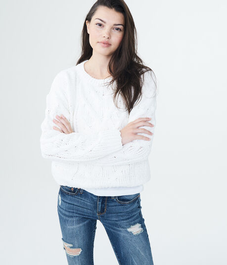 Cable Chenille Sweater