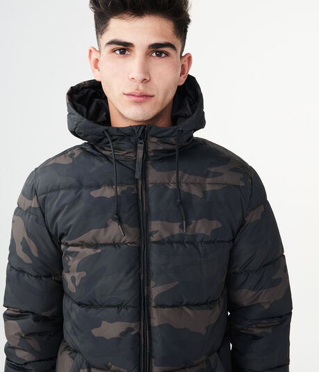 Camo Classic Hooded Puffer Coat