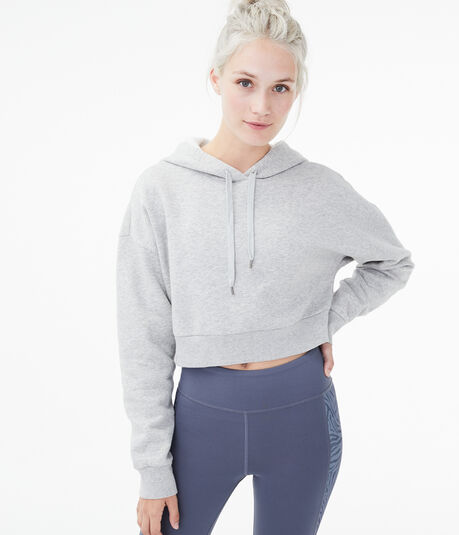 Cozy Cropped Pullover Hoodie
