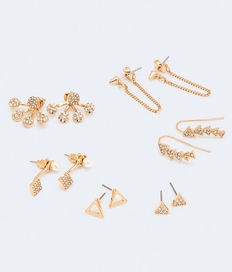 Sparkle Triangle Earring 6-Pack