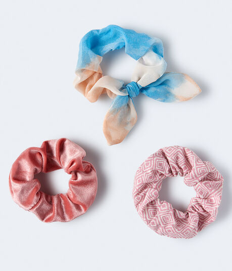 Watercolor Bow Scrunchie 3-Pack
