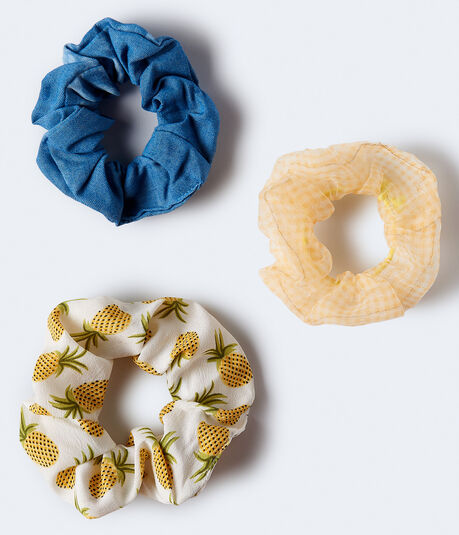 Pineapple Scrunchie 3-Pack