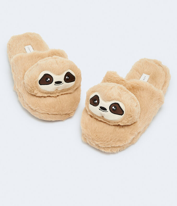 Faux Fur Sloth Slipper