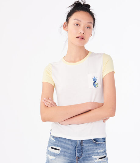 Seriously Soft Pineapple Graphic Girl Tee