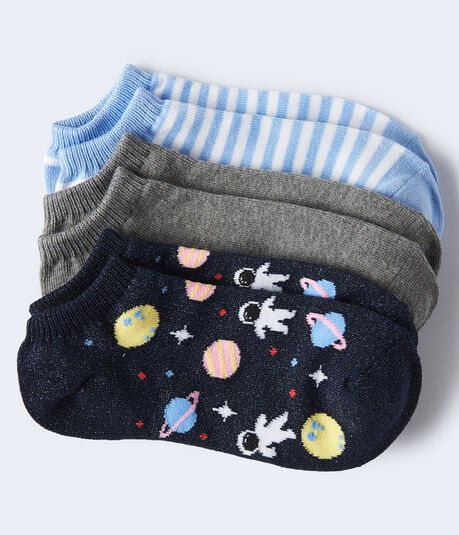Outer Space Ankle Sock 3-Pack
