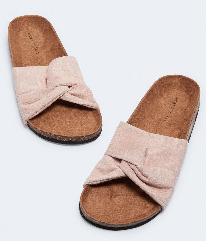 Twisted Knot Cork Slide Sandal***