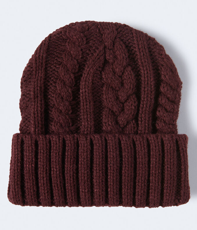 Cable-Knit Turnback Beanie